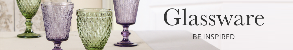 View our glassware inspiration collections