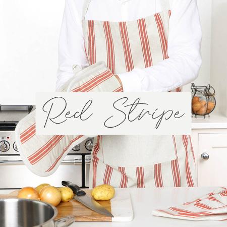 Red Stripe Linen