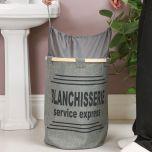 Grey French Style Laundry Basket
