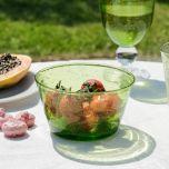 Green Bubble Glass Bowl