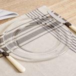 Honey Bee Embossed Glass Dinner Plate