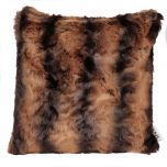 Rich Brown Faux Fur Cushion