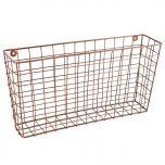 copper wall storage basket