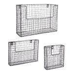 Set of 3 Black Caged Baskets