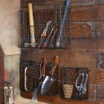 Set of 3 Garden Shed Tool Wall Storage Baskets