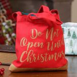 red christmas gift bag