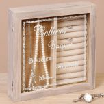 French Country Wooden Jewellery Case