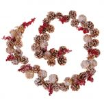 red berry pine cone Christmas garlands