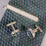 Cufflinks and Tie Clip Set