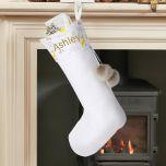 White Woodland Christmas Stocking