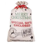 Hessian christmas gift bag