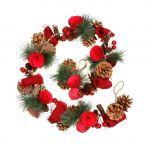 Pine cone Red Rose Christmas Garland