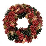 Luxury Red and Green Christmas Wreath