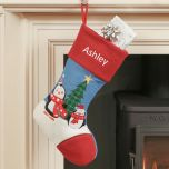 Personalised Penguin Childrens Christmas Stocking
