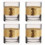 Set of 4 Gold Detailing Liquor Glasses