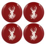 Red Reindeer Plates