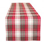 Red White and Green Plaid Table Runner