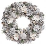 Frosted Flower woodland Door Decor