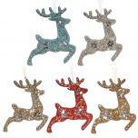 Prancing Reindeer Hanging Christmas Decoration