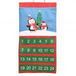 Cute Penguin Family Fabric Advent Calendar