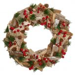 Natural Wooden Rustic Christmas Wreath