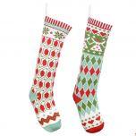 Set of 2 Geometric Pattern Christmas