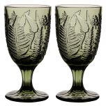 Botanical Earthy Green Mulled Wine Glasses