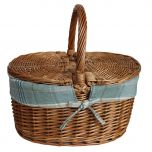 Natural Woven Wicker Double Sided Picnic Basket