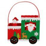 Santa Red Felt Christmas Gift Bag
