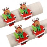 Set of 4 Christmas Reindeer Napkin Rings