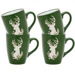 Four Stag Green Novelty Mugs