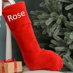 Personalised Red Velvet Christmas Stocking