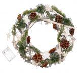 Winter Sparkle Light Up Christmas Wreath