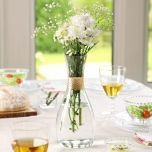Gold Band Decorative Glass Table Vase