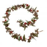 Red Bauble Woodland Christmas Garland
