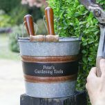 Personalised Garden Tool Shed Bucket