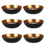 Set of 6 Black & Copper Tealight Bowls