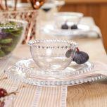 Beaded glass dinner set