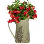 Green Fern Vase