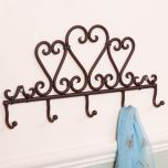 French Country Heart Iron Hook Board