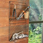 Wall Mounted Garden Shed Tool Storage Rack