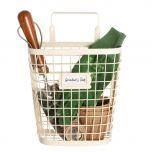 Cream Wall Mounted Garden Storage Basket