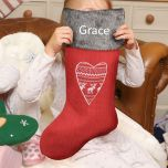 Red Nordic Personalised Christmas stockings