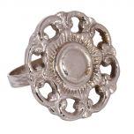 Set of 4 English Rose Flower Napkin Rings