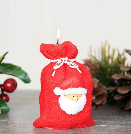 Novelty Miniature Santa Sack Candle