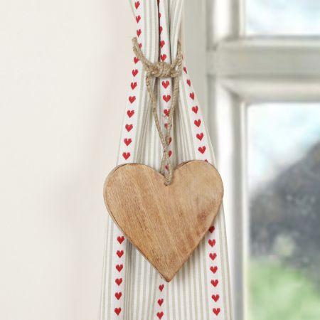 Rustic Wooden Heart Tie Back