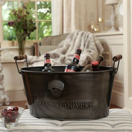 Black Beer Bottle Bucket