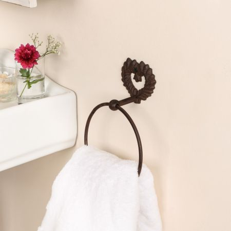 Cast Iron Heart Shaped Towel Ring