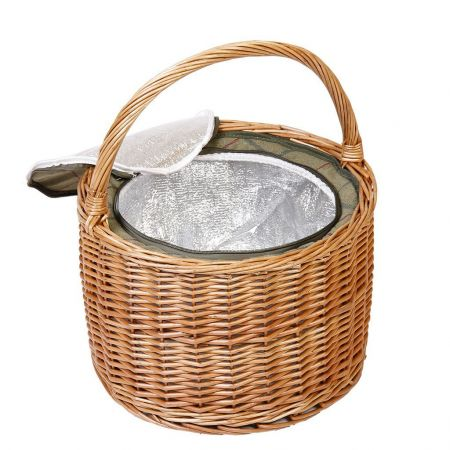 Wicker Picnic Basket with built in cooler
