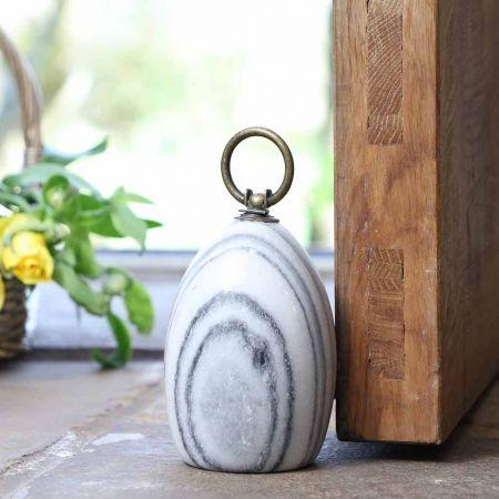 Grey Marble Door Stop